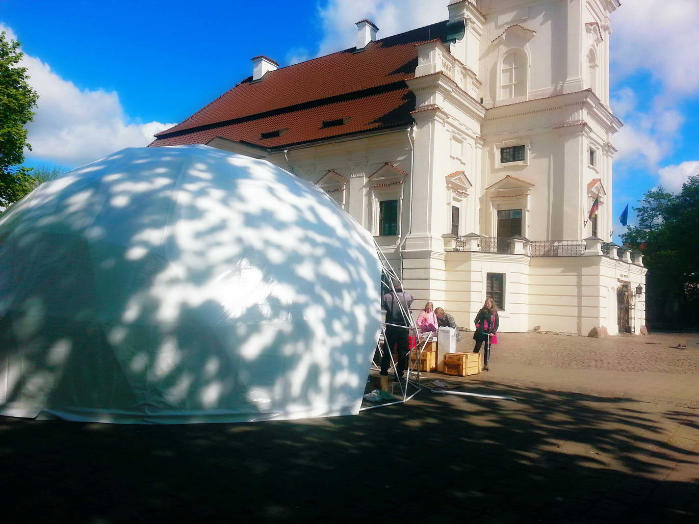 Portable dome Ø8m for Design Week 2014 Kaunas, Lithuania
