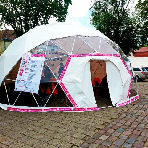 Portable dome Ø8m for Design Week 2014 Kaunas, Lithuania