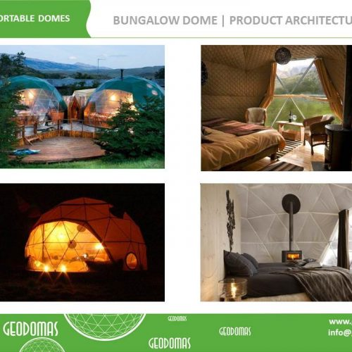 Portable Domes Bungalow Village 38m2 | Mobile Home