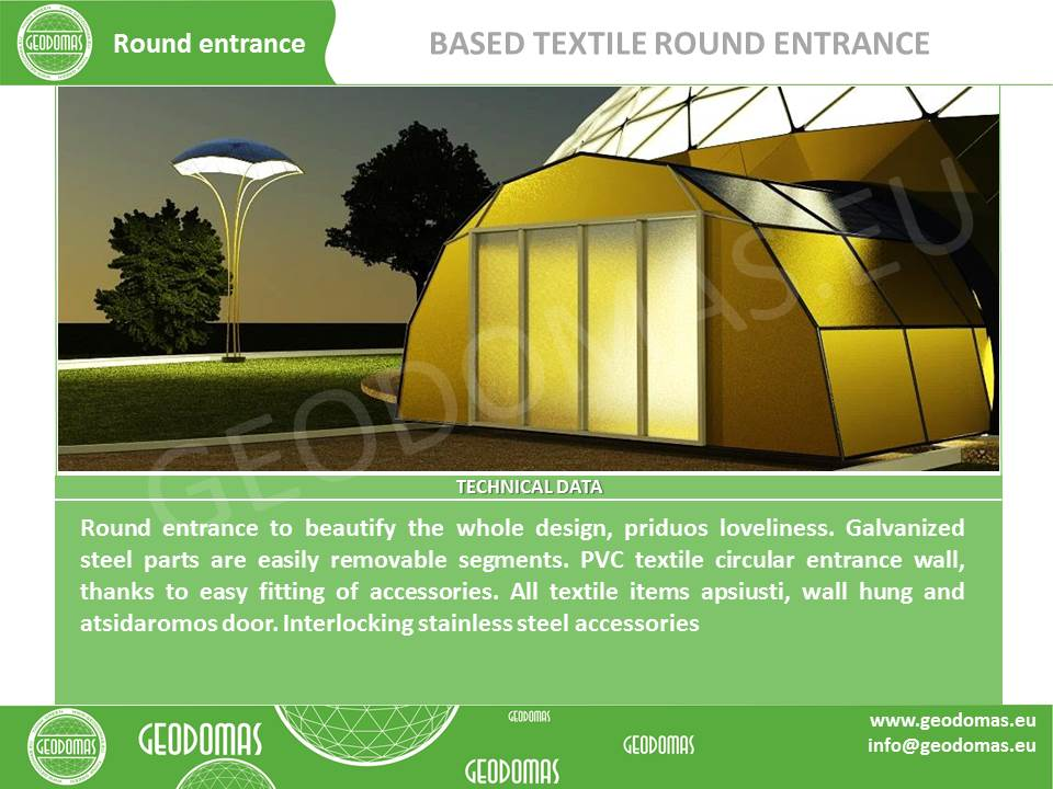 Mobile Hotel 26 room   Bungalow Dome 300m2 Ø16