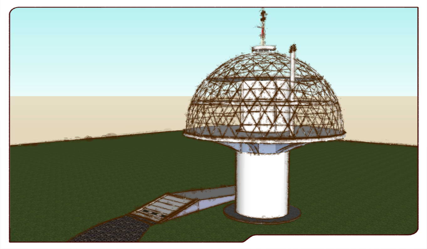 The Pole GeoHouse 420m2 | Geodesic Dome Concept