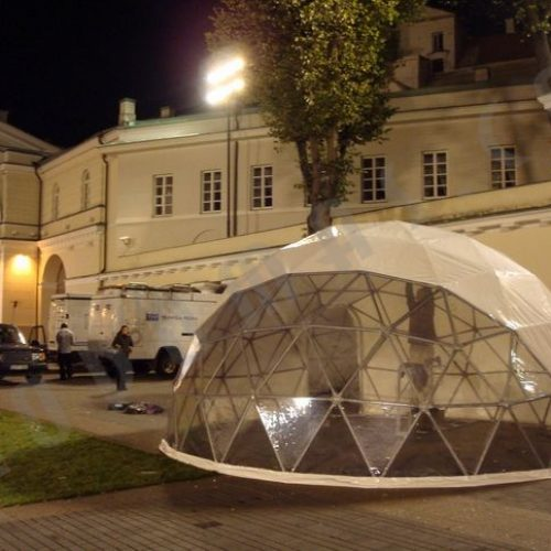 Portable Domes Ø6m For Energy Security conference 2007, Court of Presidency, Vilnius
