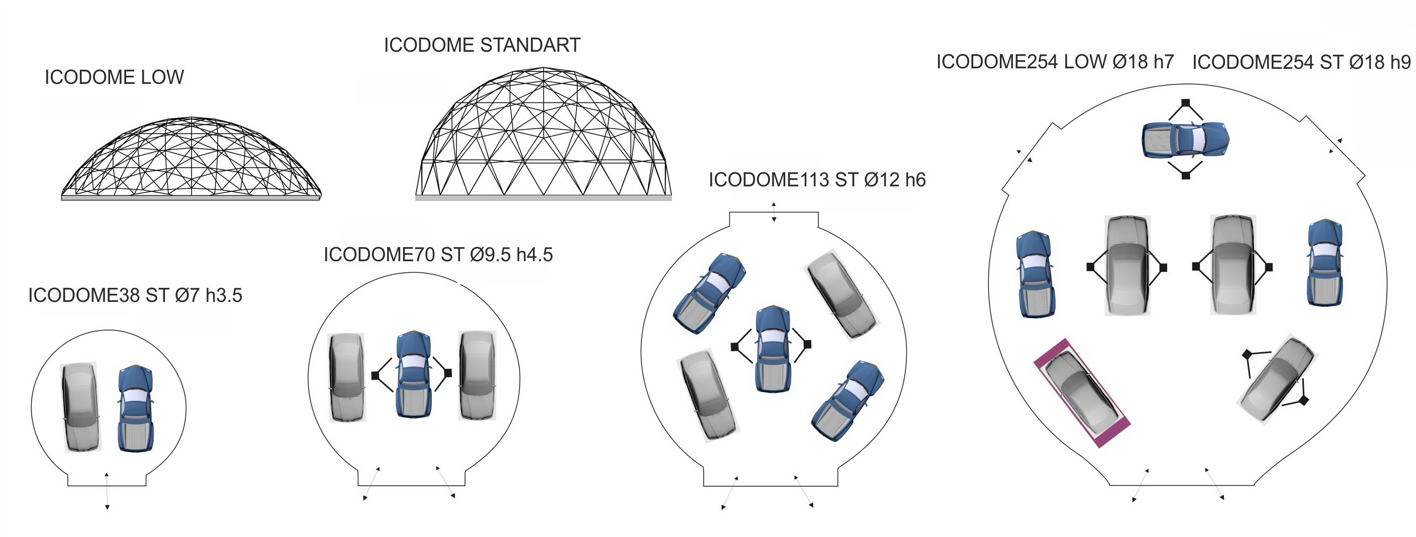 Unique Auto Garage Dome plans and designs