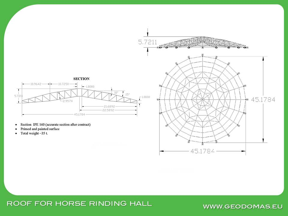 Special Industrial Round Roof's for Buildings