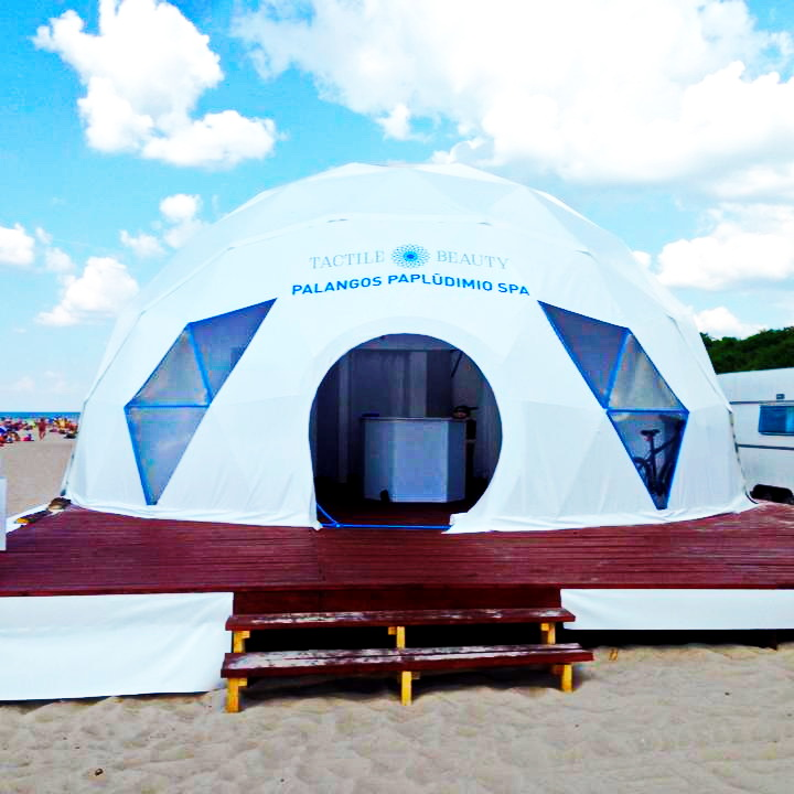 "SPA DOME Ø9m ""Tactile Beauty"" Rescue Station at Palanga Beach"