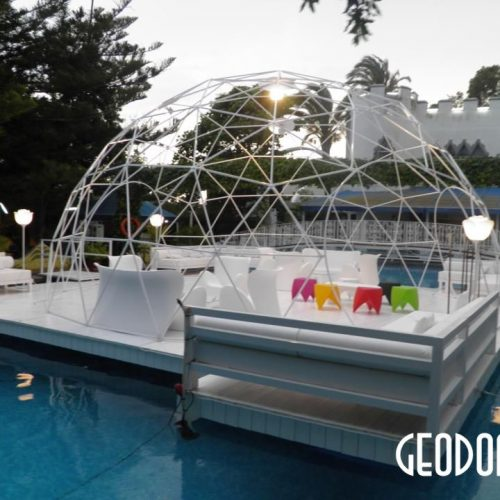 Geodesic Dome Frame For Wedding Planner «AQUALANDIA», Valencia, Spain