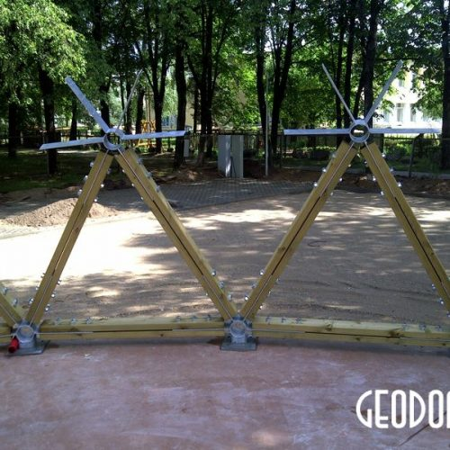 Стационарная эстрада купол Ø15m | Сцена в Парке города, г. Шальчининкай, Литва