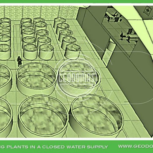Quadrat Domes for Airbreathing Catfish Fish Farms