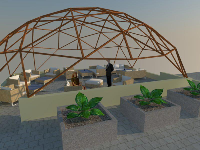 Quadrat Dome Geometric Design Pergolas & Arbours