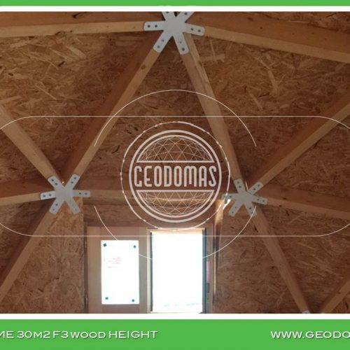 Wood Geodesic Home 30m2 Ø6m