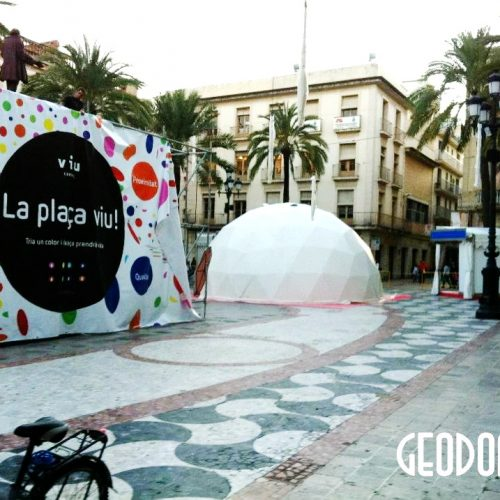Portable Ø8m dome for Viu Comercial Mall | Vilanova, Spain