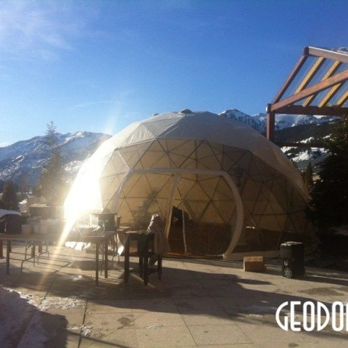 Portable Ø8m Dome for Women Alpine Ski Championship 2012 Soldeu, Andorra