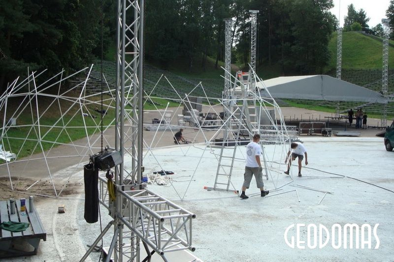 Portable Domes Ø11m & Ø6m for TV3 Season Opening 2008, Vilnius, Lithuania