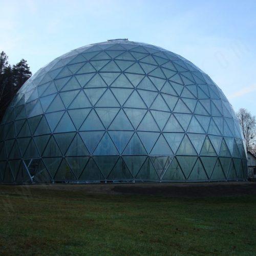Merkinės piramidė – dvasinio pažinimo ir sveikatinimo erdvė | Stiklinis Kupolas Ø23m