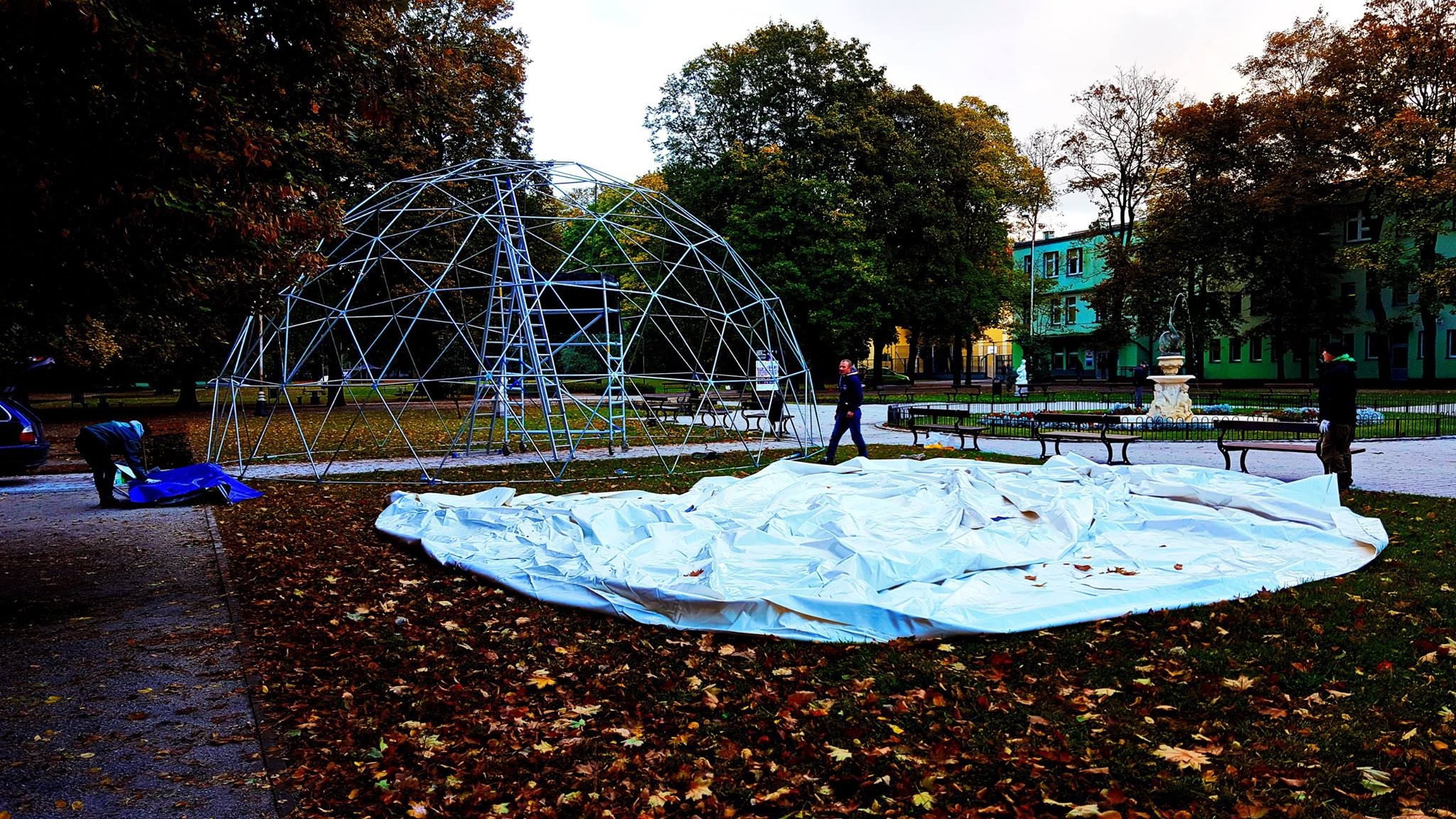 Portable Dome Ø11m For LIGHT MOVE FESTIVAL | Kinetic Art, Lodz, Poland