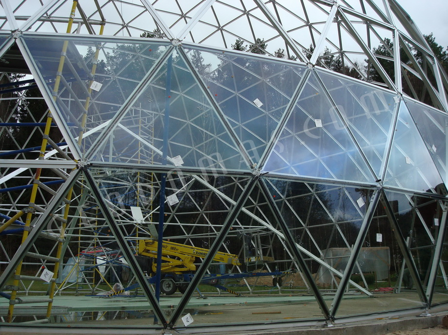 Pyramid of Merkinė @ Spiritual Geodesic Glass Dome Ø23m h13m, Merkine, Lithuania