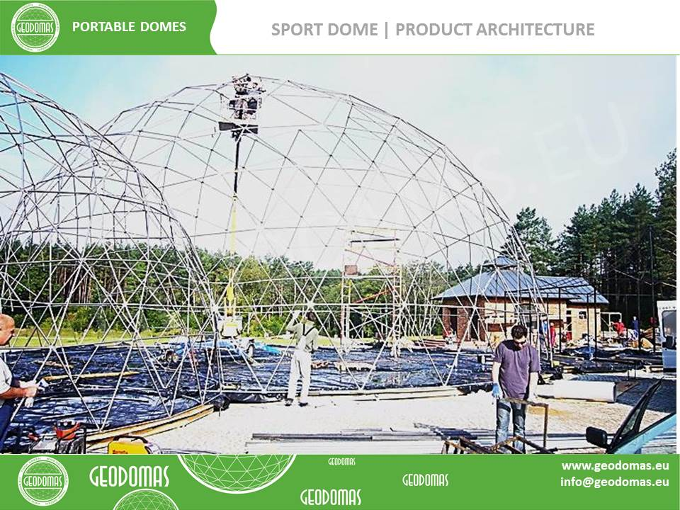 QUADRATDOME tennis court roof