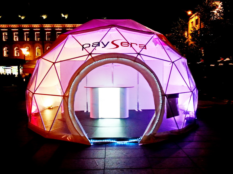 Portable dome Ø6m F3 For PAYSERA – Global transfers Company | Lithuania