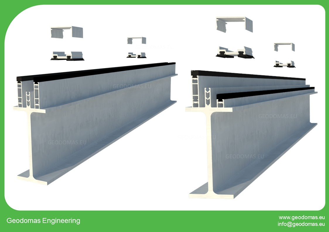 A+ klasės geometrinių formų biurų pastatų kompleksas 3000m2    200 darbo vietų Kupolai