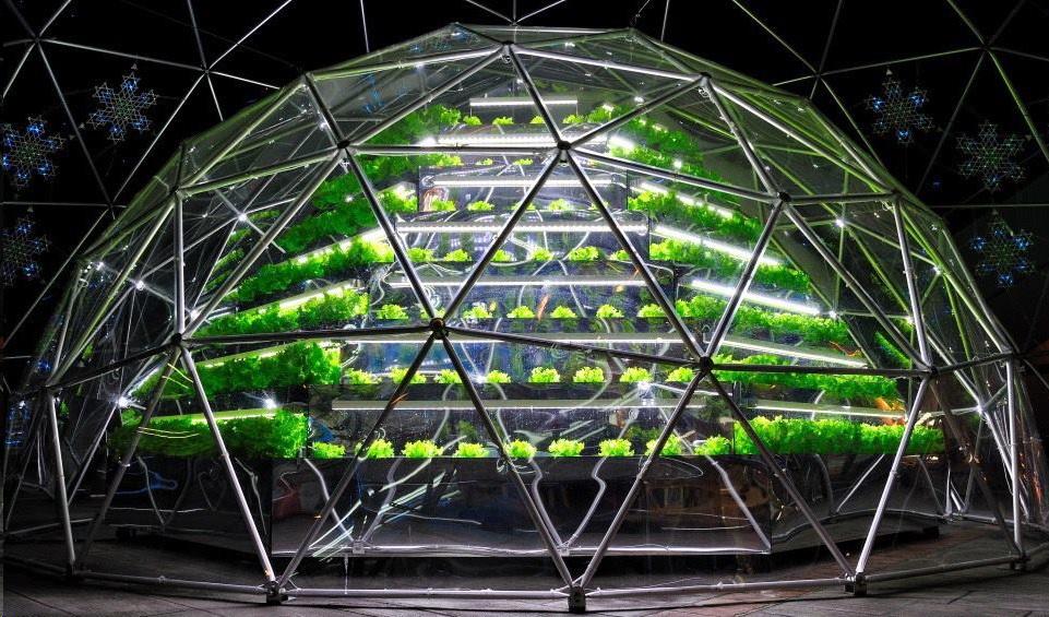 Geodesic Solar Domes for Aeroponics, Aquaponic & Hydroponic system
