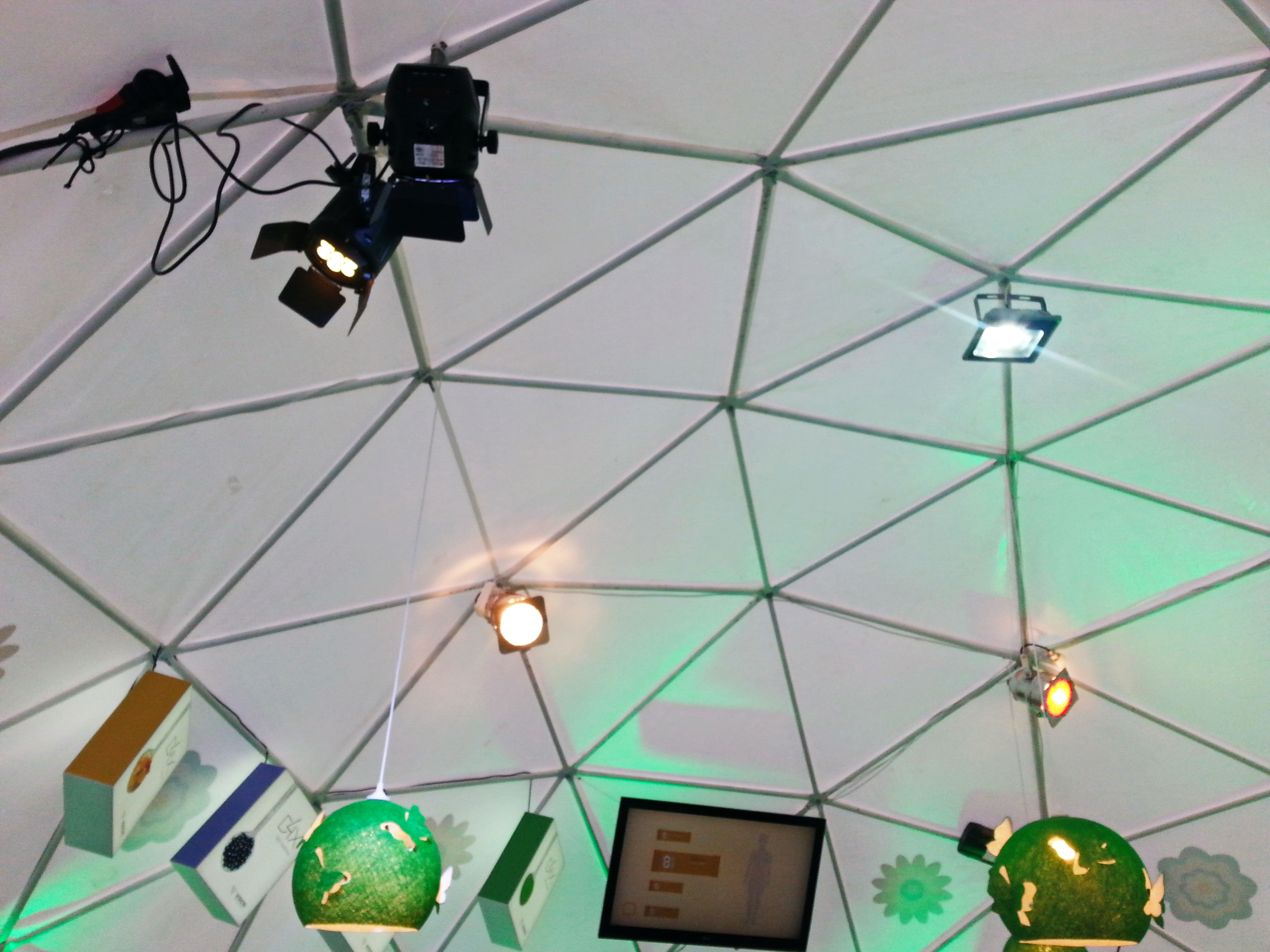Portable dome Ø8m for Švenčionių Vaistažolės herb factory, Vilnius, Lithuania