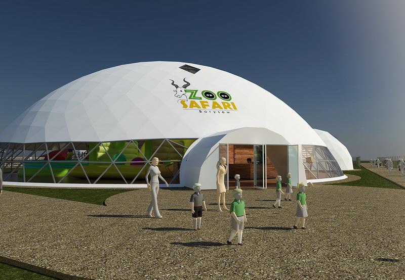 Zoo Safari Borysew @ Big Geodesic Domes Ø34m H12m