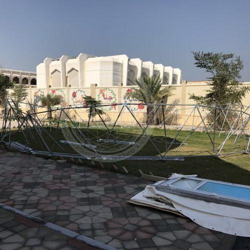 Biodome Ø12m inside a Aishah Bint Abi Baker Schooll | UAE, Abu Dhabi