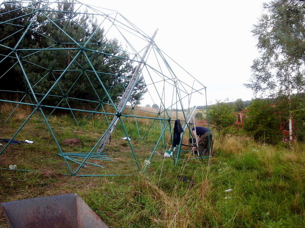 Ø6-Ø7-Ø30m Domes for Wild Birds Rehabilitation Center, Bukwałd, Poland
