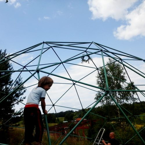 Dome Ø8m for Wild Birds in Rehabilitation Center for, Bukwałd, Poland