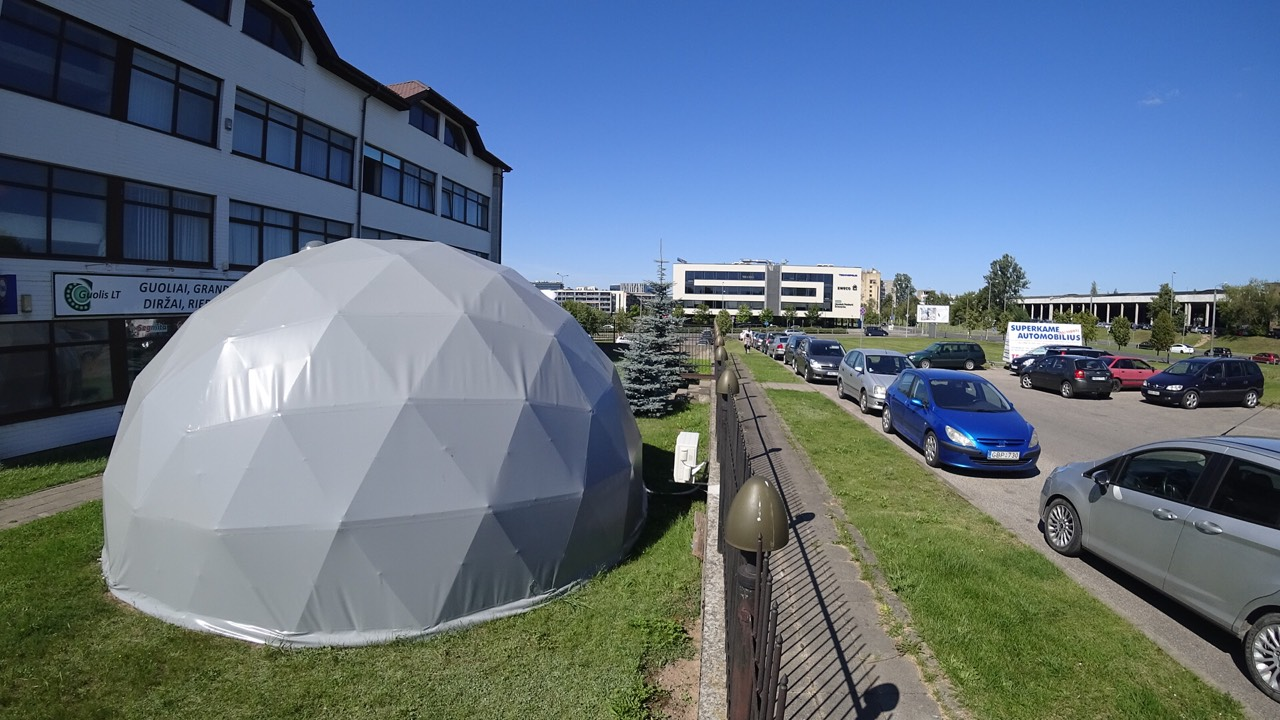 Portable Dome Structures : Expositional portable bungalow work studio m geodesic