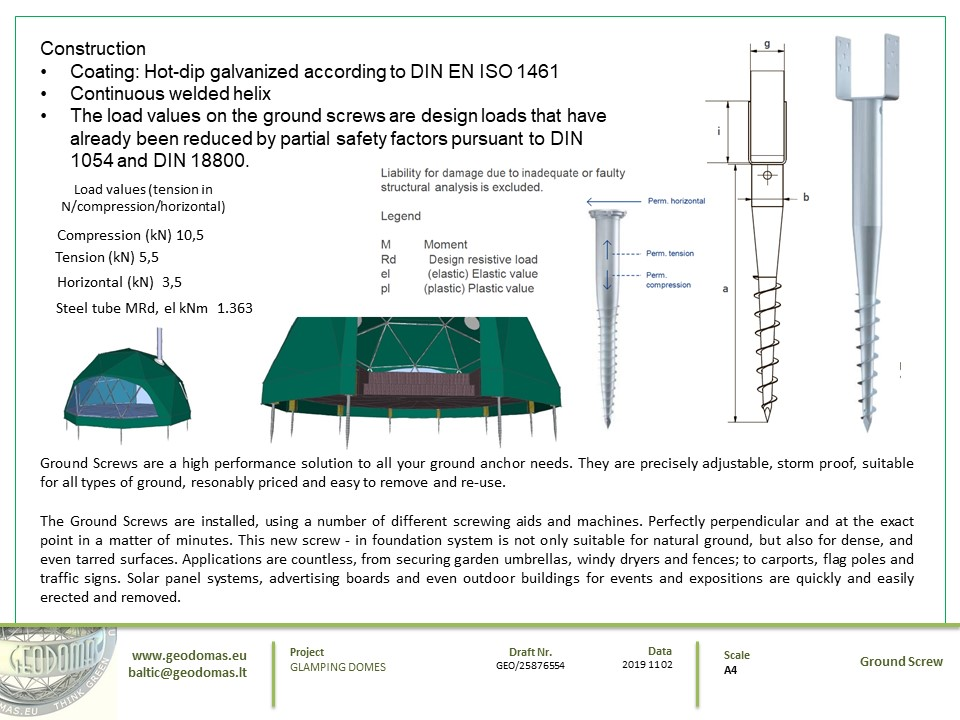 28m² Glamping Dome Ø6m F2 Height 3m   Sketches