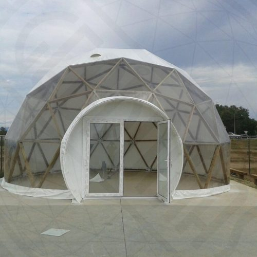 Geodesic Wood Domes Ø8m & 10m, GeoBar For Market | Spain, Girona