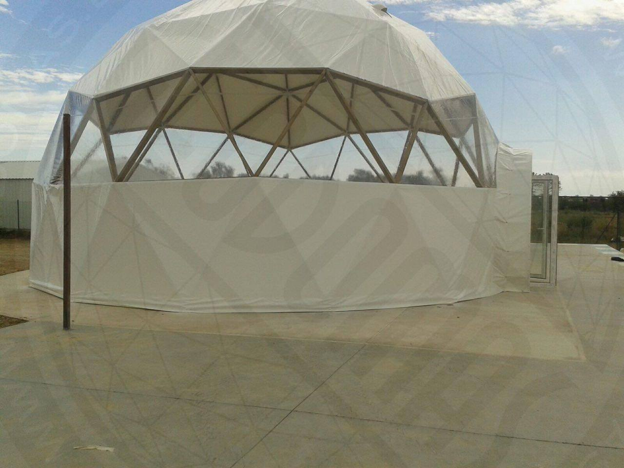 Geodesic Wood Domes Ø8m & 10m, GeoBar For Market   Spain, Girona