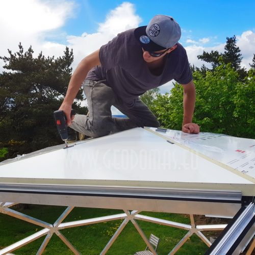 30m2 Ø6m Bungalow Dome | Sandwich panel & Glass Skylight