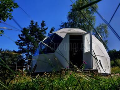 30m2 Ø6m Bungalow Dome   Sandwich panel & Glass Skylight