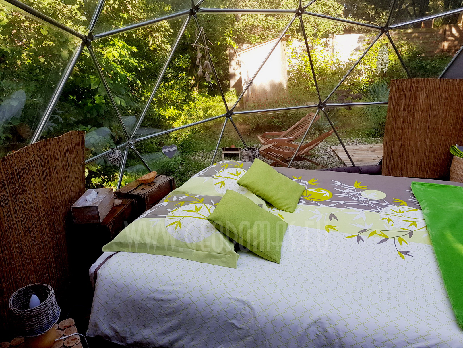 20m² Glamping Maisons Bulles™ night Panoramic bubble Ø5m