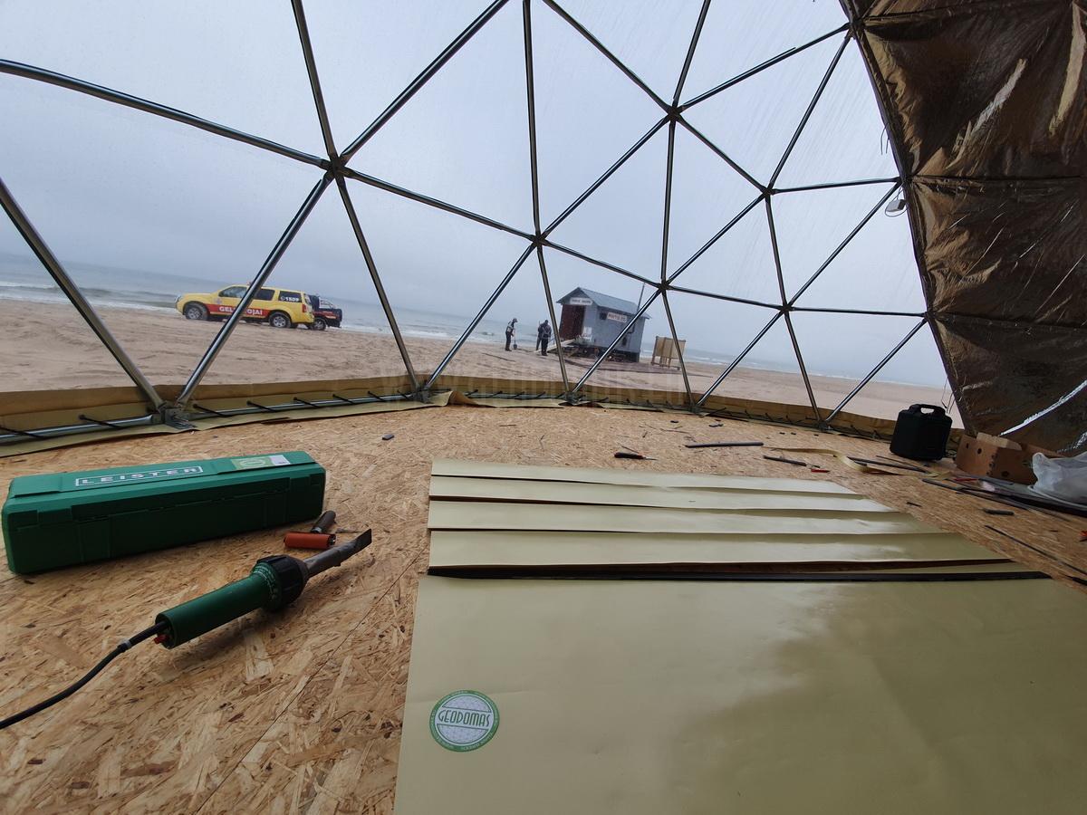 Ø8m F4 H4m Full Glamping Dome | Palanga Life Guard Station, Lithuania