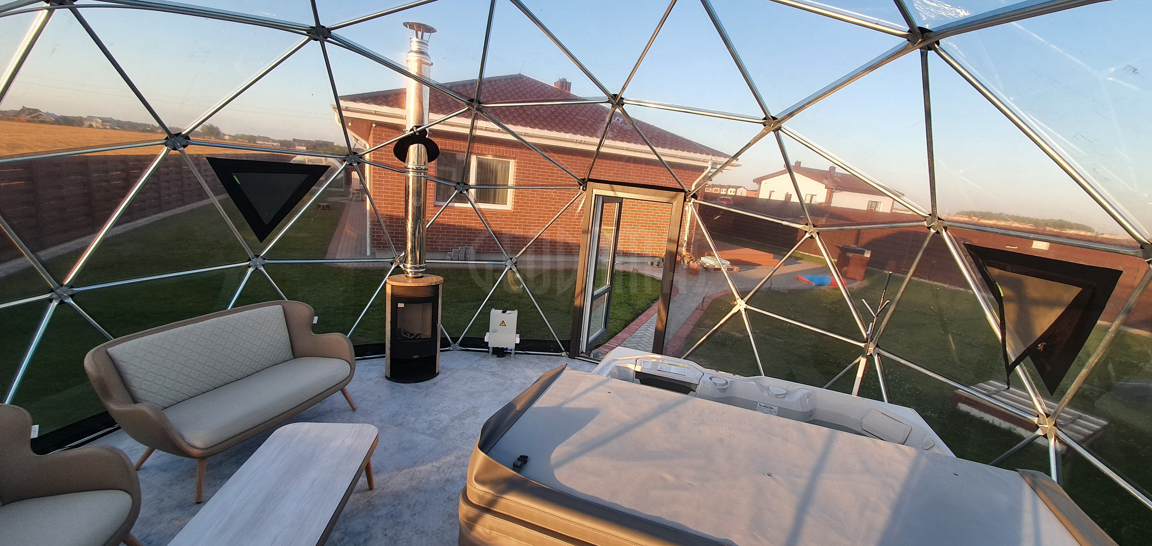28m2 ⌀6m SPA Dome – Full Transparent | Klaipeda