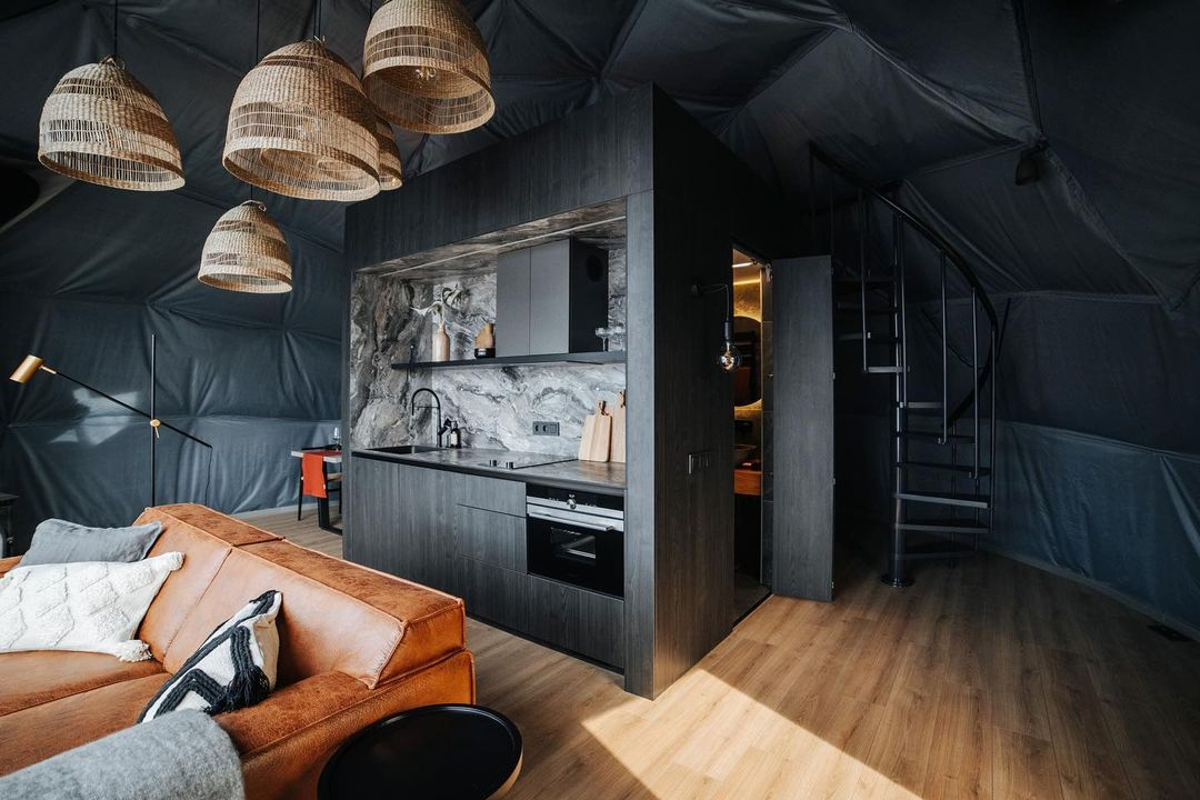 50m² Glamping Dome Ø8m | Alove Glamping Lithuania