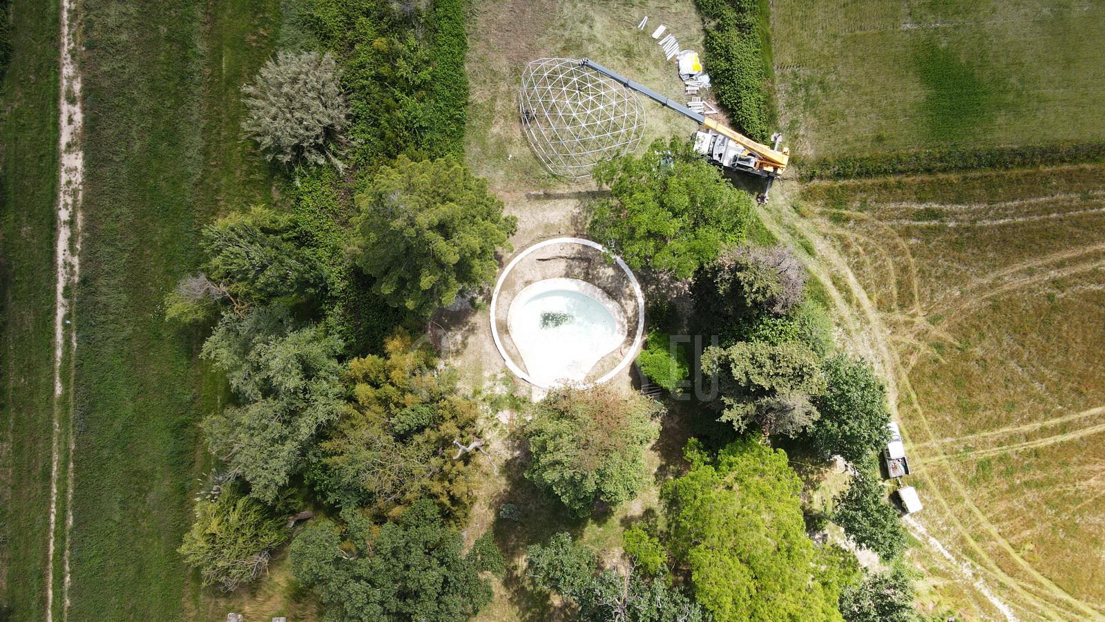 154m2 Pool Dome Ø14m   Mas du Versadou, France